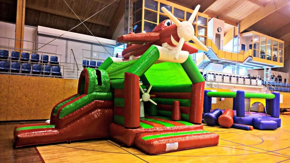 Inflatable obstacles, bouncers, castles